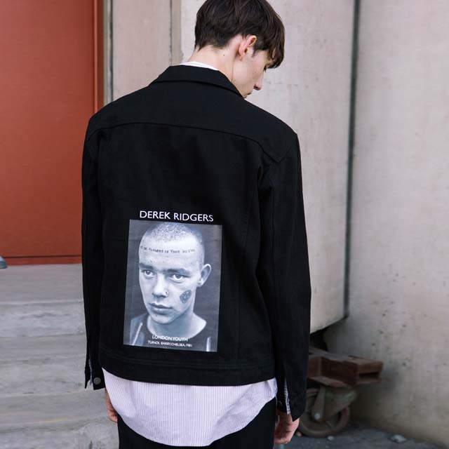 앤더슨벨DEREK RIDGERS COLLABORATION TRUCKER JACKET awa106u 블랙트러커 자켓