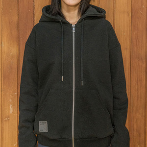 언클락와이즘Slowly&Fastly Side Line Printing Hoodie Zip-up 블랙후드 집업