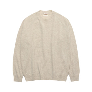 유미츠Unisex Merino Wool Reglan Crew Neck Top 오트밀라그랑 니트
