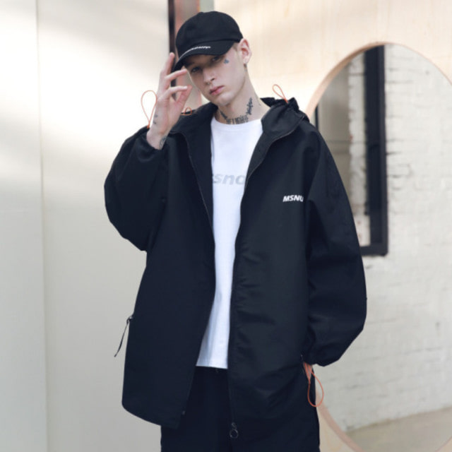 매스노운SB STREET OVERSIZED RAINCOAT MSNCT001 블랙레인 코트