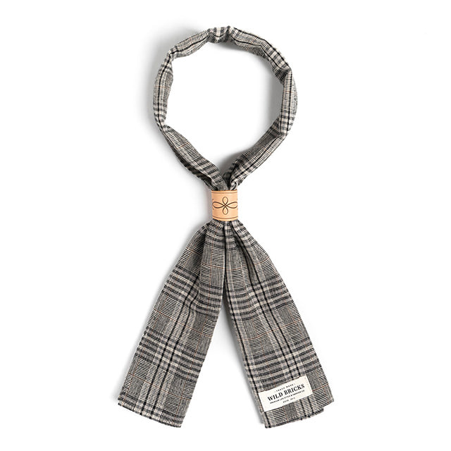 와일드브릭스BPG CHECK SCARF (grey)