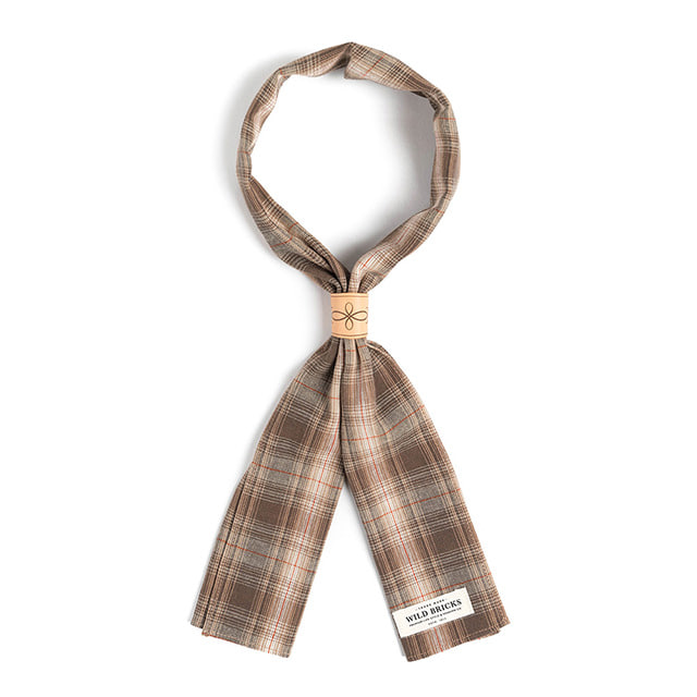 와일드브릭스LPT CHECK SCARF (brown)