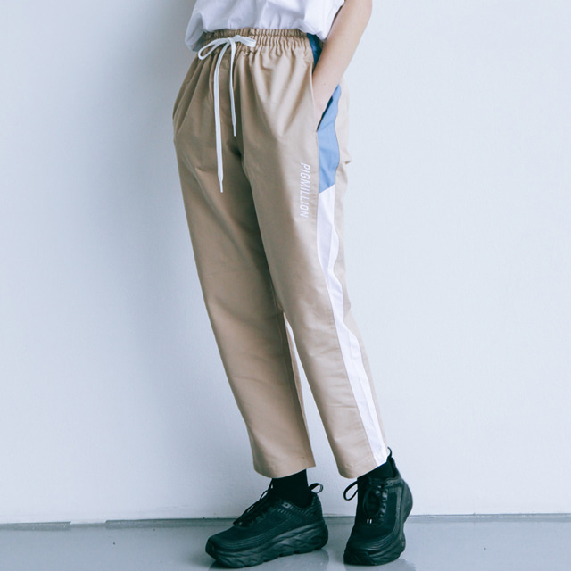피그밀리언PIGMILLION x DOPAMIN.C Combination Banding pants 베이지밴딩 바지 팬츠