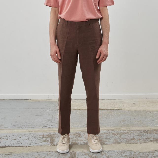 핸스Ete Linen Set-Up Trouser Ruddy Brown바지 린넨 슬랙스