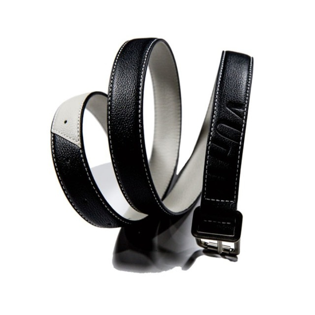 아포아APOA two tone square edge belt 블랙벨트