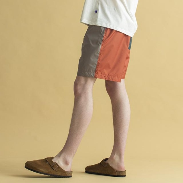 브릭NYLON BLEND SHORTS Safari  Mango  Evergreen반바지 나일론