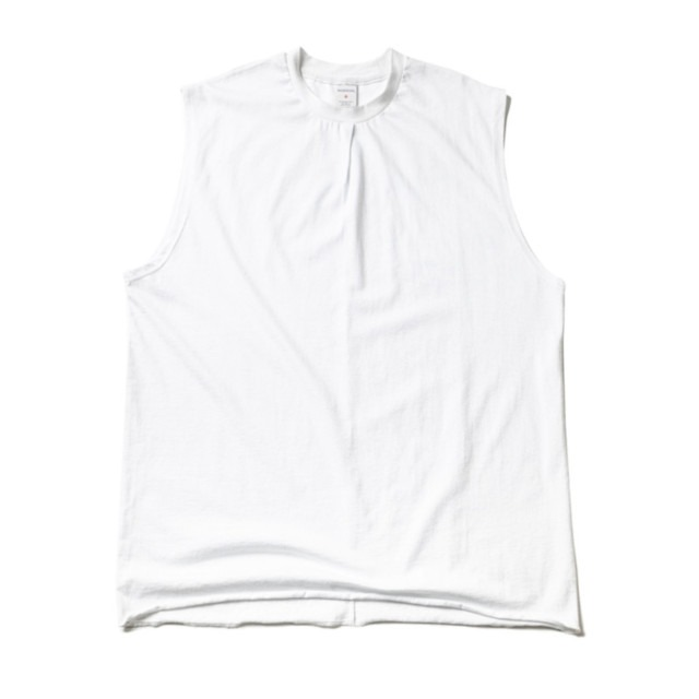 매스노운RESTRUCTURE OVERSIZED SLEEVELESS MUZSV002 화이트민소매 나시