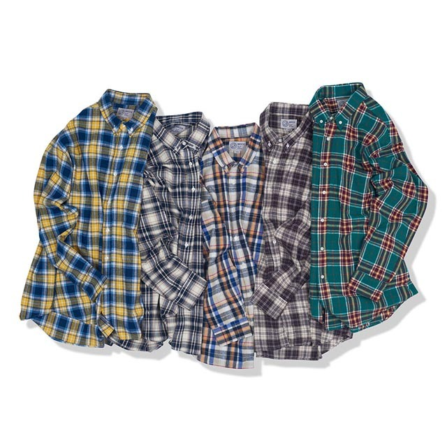 브릭BRICK LANE MARKET FLANNEL BD SHIRTS 5컬러셔츠 체크셔츠