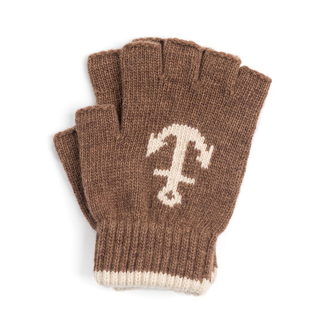 와일드브릭스LW ANCHOR FINGERLESS GLOVES (camel)
