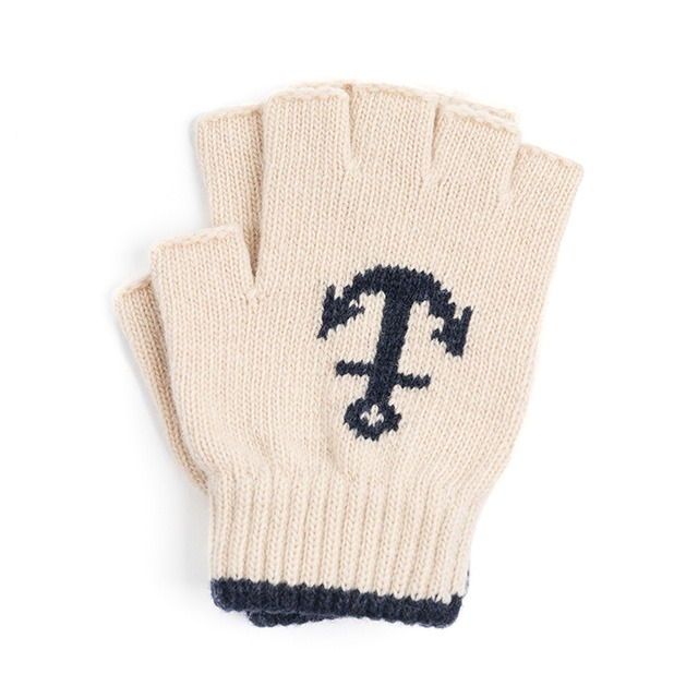 와일드브릭스LW ANCHOR FINGERLESS GLOVES (ivory)