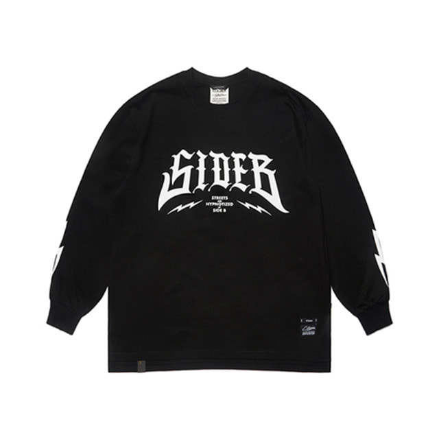 스티그마SIDE B OVERSIZED LONG SLEEVES T-SHIRTS 블랙긴팔 긴팔티